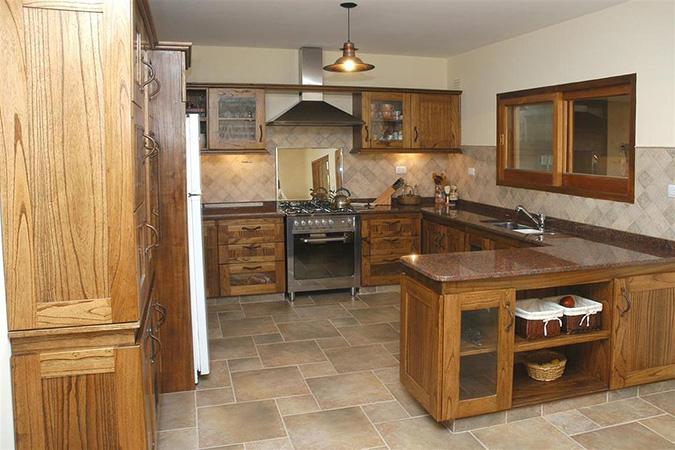 muebles de madera para cocina zona norte estilo rustico barra country paraiso